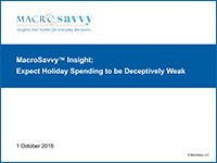 Holiday Spending 2015: Expect It to be Deceptively Weak